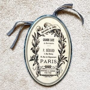 Vintage French kitchen / dining hanging wall decor
